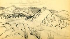 pencil drawing - AW 1943 landscape (casalosmonos) Tags: landscape artist drawing ann winters doty anndotywinters annwinters