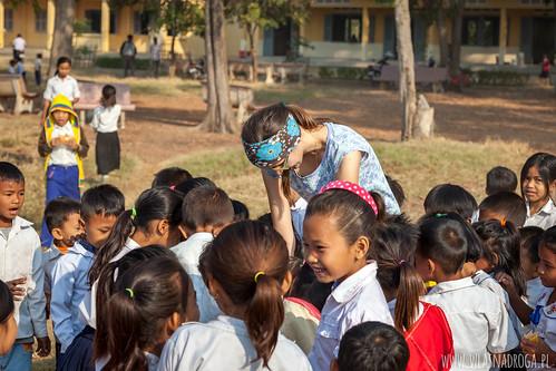 Spotkanie z dzieciakami z kambodżańskiej szkoły