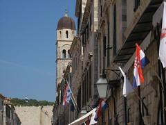 Dubrovnik (Croatie) (PierreG_09) Tags: mer architecture croatia hr rue glise dubrovnik ville croatie hrvatska adriatique clocher dalmatie