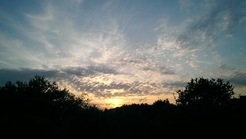 Ciel à Mont-près-Chambord : le soir.