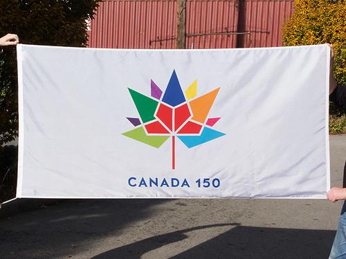 Canada 150 Flag (White)