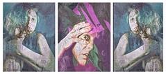 Vigilance (Vanessa Vox) Tags: vigilance triptychs emotions collage inthedailyflowofnews selfies selfportraits vanessavox