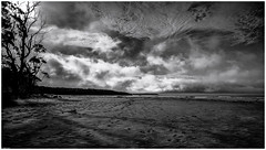 Southeast Cape IV (nig gyl) Tags: fujifilmxt1 xf14mmf28r fujifilm fujinon xf14mm southwestwildernessnationalpark southcapebay southcoasttrack tasmania monochrome blackandwhite bw wideangle fuji southcaperivulet southernocean rocks beach ocean cloud sky sea cloudsstormssunsetssunrises therebeastormabrewin