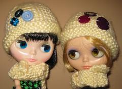 BaD:  21st & 22nd Feb - Buttons / Hats (Calendar girl 48 / grannygreen) Tags: blythedolls lizzie twiggy badfeb2017 buttons hats