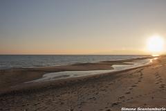 tramonto (§imo) Tags: tramonto sunset sea mare spiaggia dicembre december europa italia calabria catanzaro selliamarina beach simonescantamburlo canon 1855 70d relax orme pozzanghera sole sun riflesso reflexes
