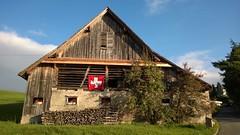 + house (maramillo) Tags: maramillo flag wood building switzerland cy tcf unanimous