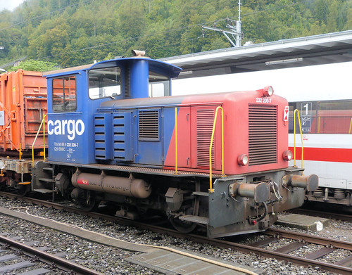 Swiss Federal Railways - Cargo diesel shunter No. 232 209-7 at Brig on the 19th September 2016