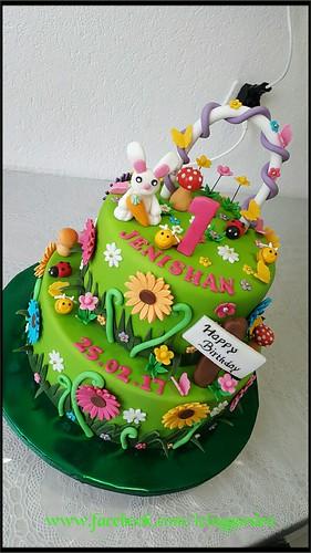 birthday cake garden design cake fondant cake icing cake