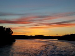 Shaw to the left of me, Orcas to the right- here I am, stuck on the ferry again... (Ryan Good) Tags: shawisland orcasisland sanjuanislands sunset washingtonstateferries washington pnw