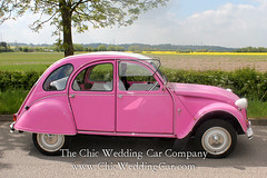 Rosie in the country-8 (magicalnights) Tags: pink wedding car derbyshire 2cv chic weddingcar shabbychicwedding sexyweddingcar 2cvweddingcar
