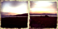 Look both ways (anakiwa_forever) Tags: sunset newzealand diptych cellphone wellington petone retrocamera giveusyourbestshot 522013week19