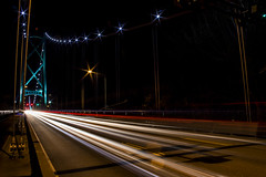 Traffic Lions Gate Bridge 2 (insomniac199) Tags: nightphotography bridge vancouver gate long britishcolumbia lions exposures