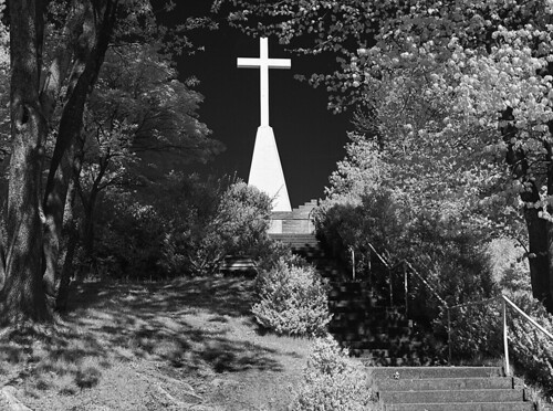 Father Marquette Memorial shot on Rollei infrared film