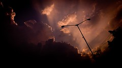 Street Lamp at brown sky (ikhsanhn) Tags: street cloud brown afternoon sony smartphone xperia