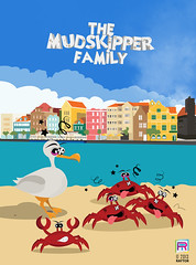 Sea crab and gull (RayTor1) Tags: sea game beach netherlands island sand drawing character seagull gull crab curacao meeuw han willemstad mudskipper antilles torregrosa korsou korsow raytor raymiron themudskipperfamily raytormedia