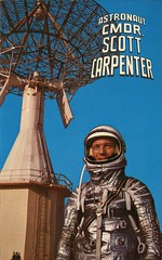Astronaut Scott Carpenter, May 2, 1962 (SwellMap) Tags: industry vintage advertising design flying pc 60s technology fifties satellite postcard suburbia style kitsch science ufo retro nostalgia chrome americana spaceship 50s googie populuxe sixties extraterrestrial saucer babyboomer consumer coldwar midcentury spaceage atomicage