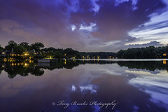 Nature's Art (yeahbouyee) Tags: sunset lake reflection water landscape evening lowlight hdr canon7d thechallengefactory lightroom44 lakethoreaurestonvausa