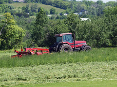 cuttin' hay (3) (Ange 29) Tags: trees tractor canada king olympus cutting hay township e30 zd 35100mm
