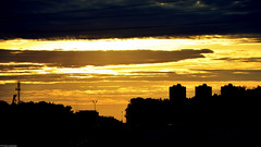 (stiqqo) Tags: city sunset summer sky yellow landscape moscow