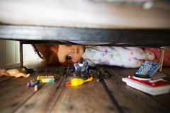 Under the bed. (55randomclicks) Tags: doll blythe