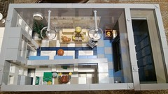 1st Floor LEGO BANK Top elevation (LegoMiamiguy119) Tags: money lego bank modular safe custom atm teller