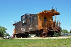 Chicago Central Railroad No. 199506, Iowa, Delmar (EC Leatherberry) Tags: railroad iowa caboose clintoncounty illinoiscentralrailroad extendedcupola chicagocentralrailroad