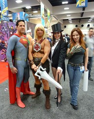 Zatanna with Superman He-Man & Witchblade at SDCC 2013 (Cutterin) Tags: dc san comic cosplay diego superman adamhughes comiccon con heman sdcc zatanna witchblade manofsteel 2013 sdcc2013 sandiegocomiccon2013 cutterin dreamhats