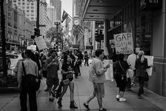 Gap demonstration (Sacha 2D) Tags: leica travel blackandwhite usa chicago illinois northamerica leicam8 lensblr photographersontumblr