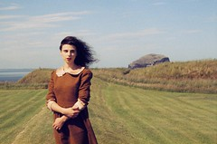 Dorota (Sex Crime 1984) Tags: sea summer nature water girl clouds vintage scotland countryside rocks clothes romantic
