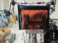 Bag on Rack on Bike -- Front View (jimgskoop) Tags: blue bicycle cycling pelican custom racks randonneur boxdogbikes 2013 bdb eyefi