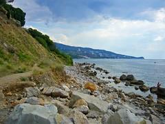 Cape Green, view to Alupka (Cad-Kyiv) Tags: sea beach rocks hill cape crimea blacksea alupka