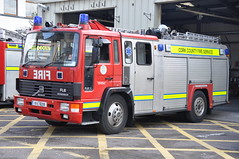 Cork County Fire Service 1991 Volvo FL6/14 HCB Angus WrL 91C16299 (Ex Dorset H695 LRU) (Shane Casey CK25) Tags: county blue b red 2 rescue ex water station k yellow truck fire lights 1 volvo angus cork pump charlie lorry e dorset fireman service 1991 firemen ladder flashing emergency ck society siren 42 41 43 brigade battenburg sirens youghal kilo hcb lru wrl retained a fl614 h695 91c16299