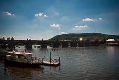 Sky (jev55) Tags: blue summer sky cloud sun holiday hot nikon warm glow republic czech prague czechrepublic