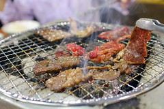 Yakiniku - Korean barbecue or Japanese barbecue (DigiPub) Tags: food horizontal photography beef meat smoking grill korean barbecue japanesefood tongs koreanfood onsale turning hold gettyimages yakiniku lifestyles rawfood koreancuisine distraught colorimage charcoalfire koreanbarbecue  barbecuegrill koreanculture  japanesebarbecue   servingtongs 525600771 m20141105 o20141127