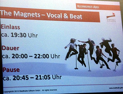 Magnets German Tour, Nov 2013