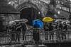 And when the rain begins to fall (Vagelis Pikoulas) Tags: bridge light people colour rain clouds canon eos kiss europe republic czech prague charles praha 1855mm x4 2013 550d colorphotoaward