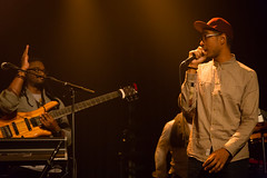 Oddisee on the Mic (Alex E. Proimos) Tags: musician tour stage band rapper oddisee