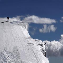 A few steps from Paradise (Nespyxel) Tags: blue sky white mountain snow high paradise day blu cielo lonely dizzy bianco skier solitario trentino bolzano valsenales trentinoaltoadige masocorto nespyxel stefanoscarselli tufototureto autonomeprovinzbozen