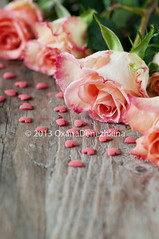 Pink roses and hearts (Oxana Denezhkina) Tags: wedding red two food holiday flower love dinner table lunch restaurant day symbol anniversary decoration knife marriage plate fork valentine romance celebration invitation card gift meal dating passion valentines romantic dinning banquet date elegant setting