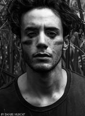 Self Awareness (Daniel Muscat) Tags: portrait white black male grass self reeds photography bush model artist australian young dirt jungle charcoal