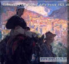 Romualdo Prati Ritorno dalle nozze 1922 olio su tavola 25x25cm Collezione privata