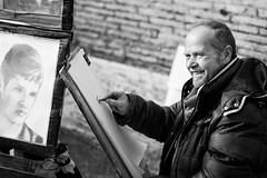 enjoying his work, enjoying his art (*magma*) Tags: street rome roma art painting strada artist working painter di artista pittore