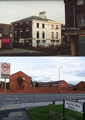 South Hill Road/Park Road, Liverpool 8. 1 January 1992 and 2 January 2014. (philipgmayer) Tags: liverpool 1992 demolished 1000 margies toxteth dinglehill
