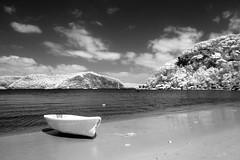 Palm Beach, NSW (glidergoth) Tags: beach ir mono surf sydney australia infrared palmbeach barranjoey