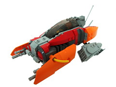 Blazing Sun Fighter (aabbee 150) Tags: red orange sun star fighter ship lego space smoking 150 holy legos owl jenkins starfighter bley foitsop aabbee aabbee150