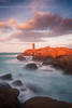 Sunset on Mean Ruz Lighthouse, Ploumanac'h #2 ( Cotes d'Armor - France ) (Yannick Lefevre) Tags: longexposure sunset lighthouse seascape france photoshop landscape nikon brittany raw nef tripod bretagne paysage dri manfrotto hoya rockscape perrosguirec ndfilter ploumanach nd400 cotesdarmor poselongue nd8 granitrose nikoncapturenx d700 ndx400 cotegranitrose capturenx2 meanruz chemindescontrebandiers yllogo nikkor1635mmf4 ©yannicklefevre||photography