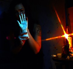 XXI (SpiffyShiftyDrippy) Tags: dark candle evil eerie spooky palmistry chiromancy