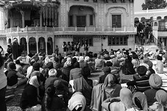Devotees listening to religious songs in front of Akal Takht in the Golden Temple (Ashish A) Tags: india building canon buildings religious temple asia religion crowd staircase sikh devotee devotees amritsar digitalslr sikhism goldentemple canoncamera religioussymbol musicalperformance peoplesitting sittingpeople akaltakht goldentempleinamritsar canon650d musicaltroupe religioussongs canont4i peoplewearingturbans peopleinsidegoldentemple peoplelisteningtosongs