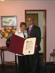 Con mi esposa Ana Rosa Alfaro Robledo. Martes 18 de abril de 2006.