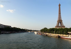 River Seine near the Eiffel Tower
